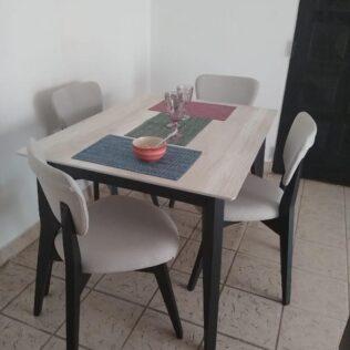 Mesa Pampa fija 140+ 4 sillas pampa